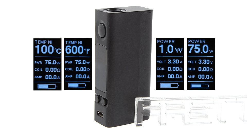 Product Image: authentic-joyetech-evic-vtwo-mini-75w-tc-vw-apv