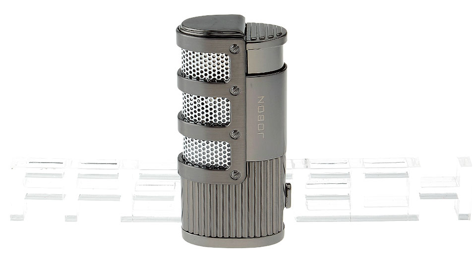 JOBON ZB-938 3-Flame Refillable Butane Gas Lighter