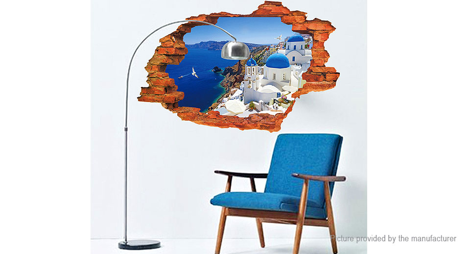 3D Virtual Window Styled Wall Sticker Decoration Decal