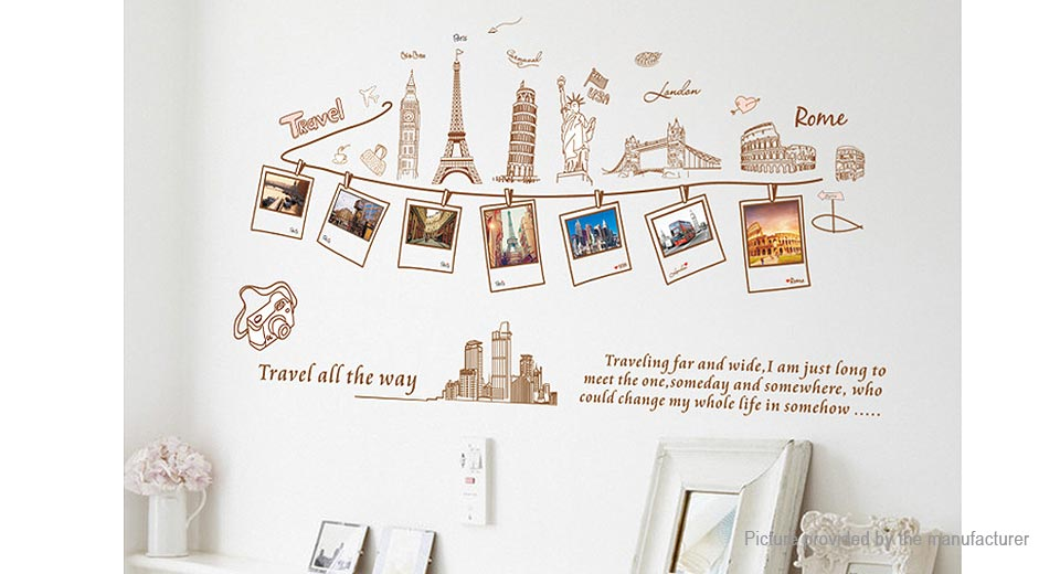 Architecture Photo Styled Wall Sticker Decoration Decal
