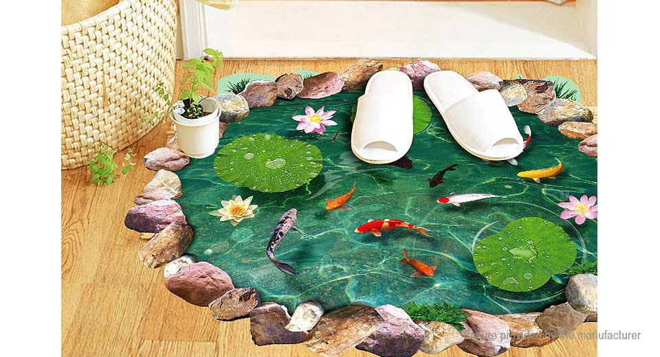 3D Fish Pond Styled Wall Decal / Sticker