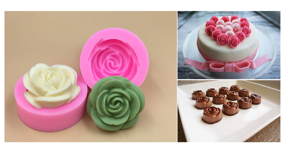 3D Mini Peony Styled Fondant Mold Silicone Cake Chocolate Mould