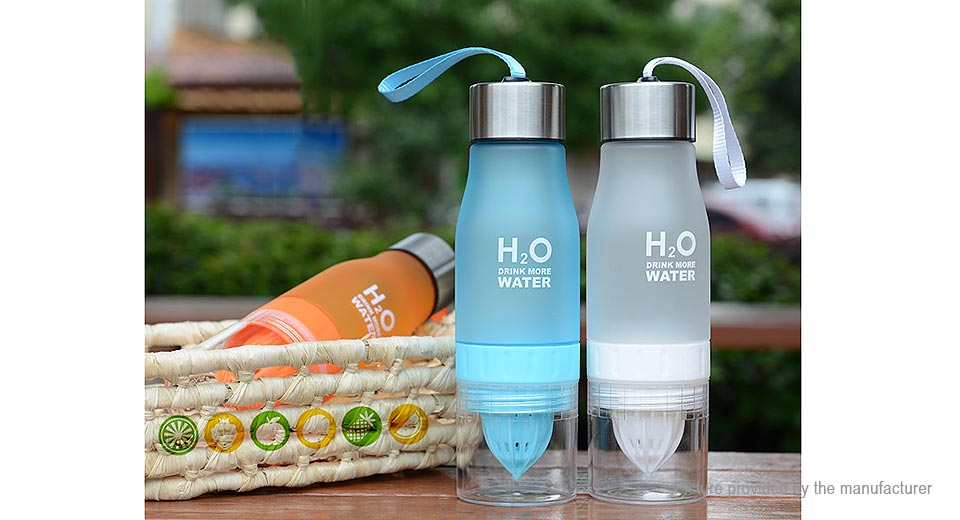 H2O Water Bottle Portable Juice Lemon Fruit Infuser Cup (650ml)