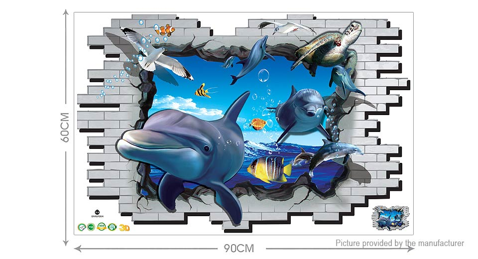 3D Undersea World Styled Wall Sticker Decoration Decal