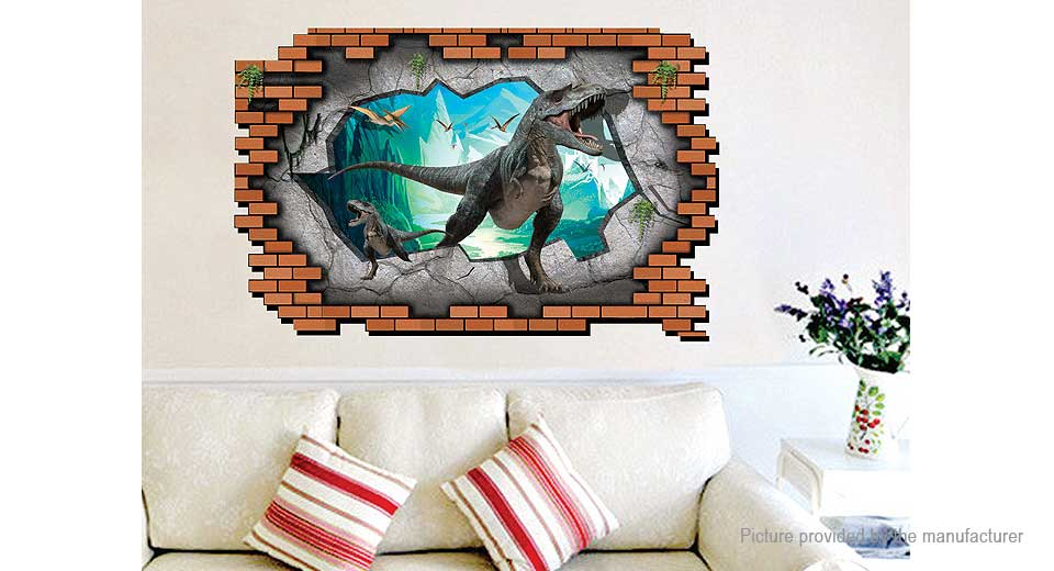 3D Jurassic Dinosaurs Styled Wall Sticker Decoration Decal