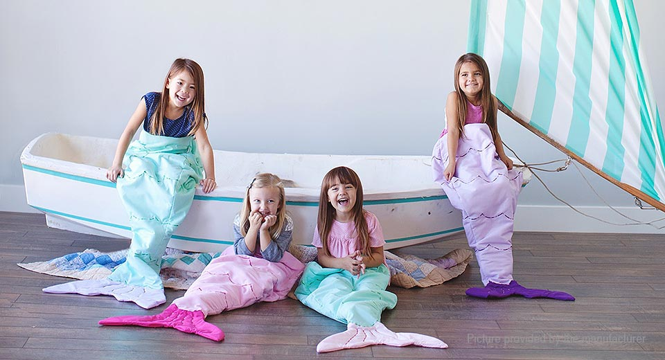 Product Image: mermaid-styled-flannel-double-layer-children