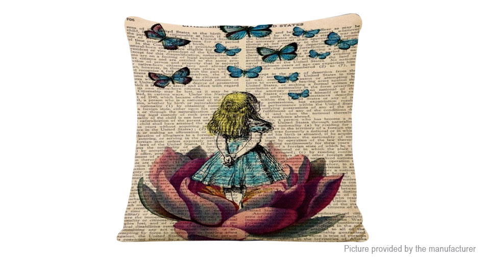 Product Image: newspaper-little-girl-pattern-linen-square