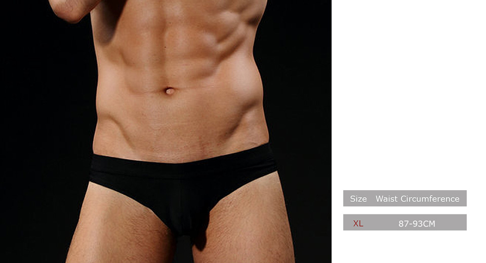 Men's Breathable Mesh Underwear Briefs (Size XL)