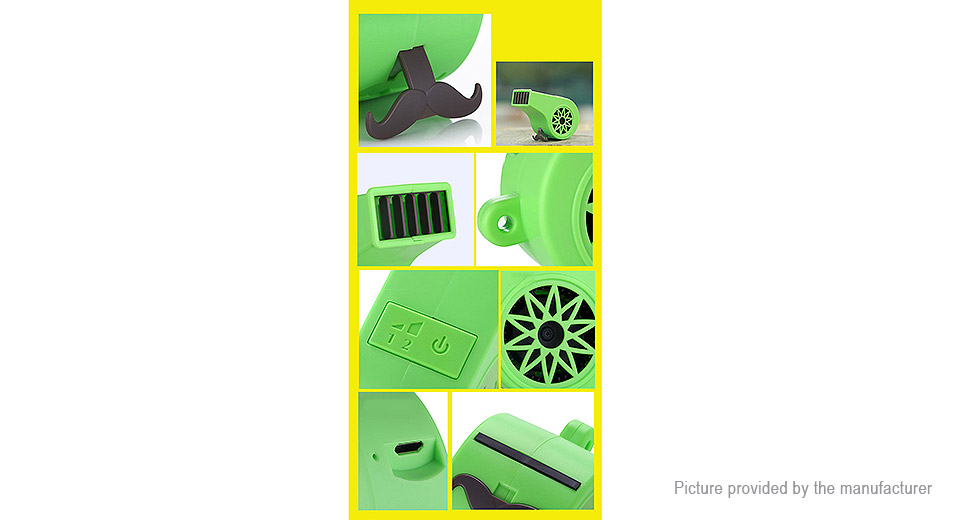 Outdoor Sports Whistle Styled Mini USB Fan