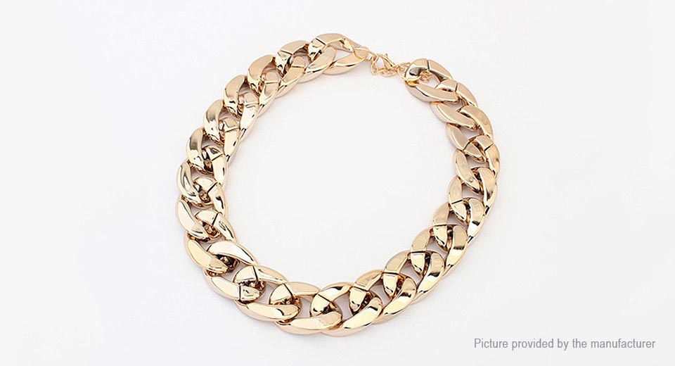 women s chunky curb chain choker necklace