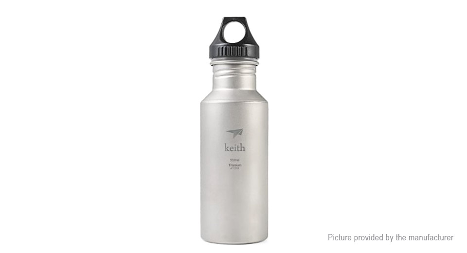 Keith Ti51 Titanium Sports Water Bottle (550ml)