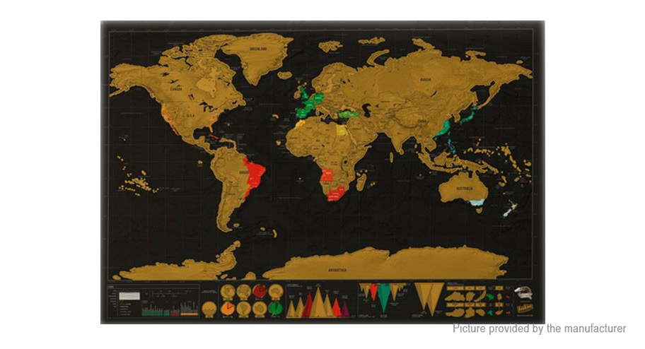 scratch off world map poster personalized journal log at fasttech worldwide free shipping. Black Bedroom Furniture Sets. Home Design Ideas