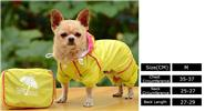 Pet Dog Waterproof Hooded Slicker Raincoat (Size M)