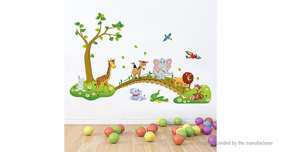 Cute Cartoon Animals Styled Removable Wall Sticker Home Decor