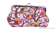 Owl Pattern Women's Coin Purse Wallet Cell Phone Pouch