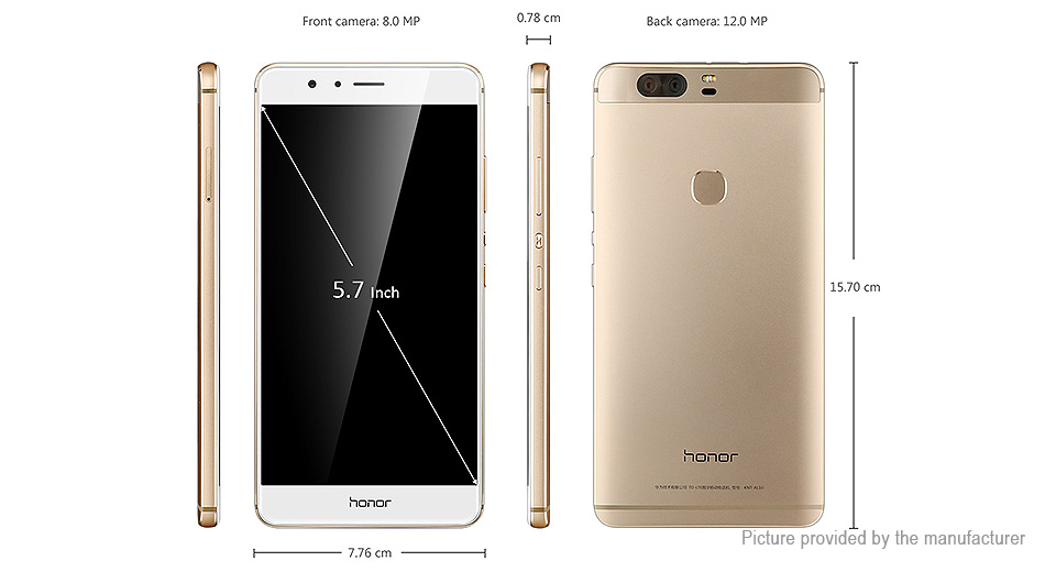 "$509.95 Authentic Huawei Honor V8 KNT-AL20 5.7"" LTE ..."
