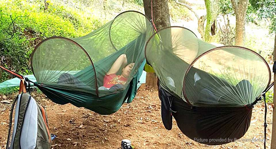 Cacoon Hammock Double 2-person tent turquoise blue 180x150cm ...