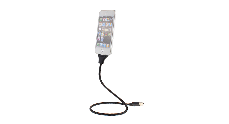 8-pin to USB 2.0 Charging/Data Sync Cable + Cell Phone Holder Combo Cables & Adapters 5458802
