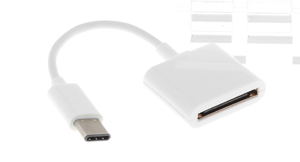 USB 3.1 Type C to Apple 30-pin Data Sync / Charging Adapter Cable (6cm) Cables & Adapters 5481100