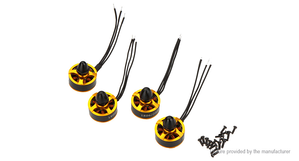 1806 2400KV CW/CCW Brushless Motor for R/C Models (4 Pieces) DC/Gear Motors 5484900