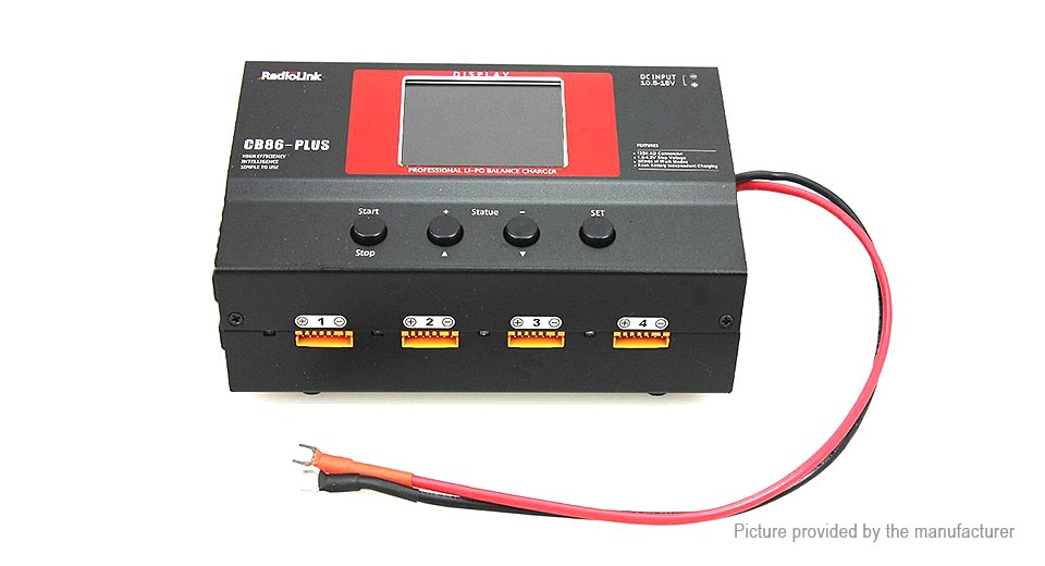 RadioLink CB86 Plus 6A 220W Balance Charger for 2-6S LiPo / LiFe Battery Battery Chargers 5494200