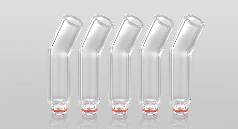 Authentic Clrane High Borosilicate Glass Curved 510 Drip Tip (5-Pack) Drip Tips – Glass 5500400