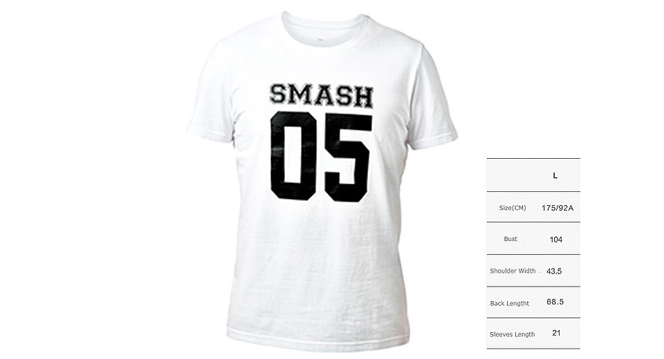Authentic Xiaomi Mi SMASH 05 Printed Unisex Short Sleeve T-shirt (Size L) T-shirts 5509802