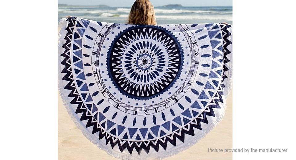 Round Beach Towel Yoga Mat Tippet Polyester Tablecloth Home Textile 5510401