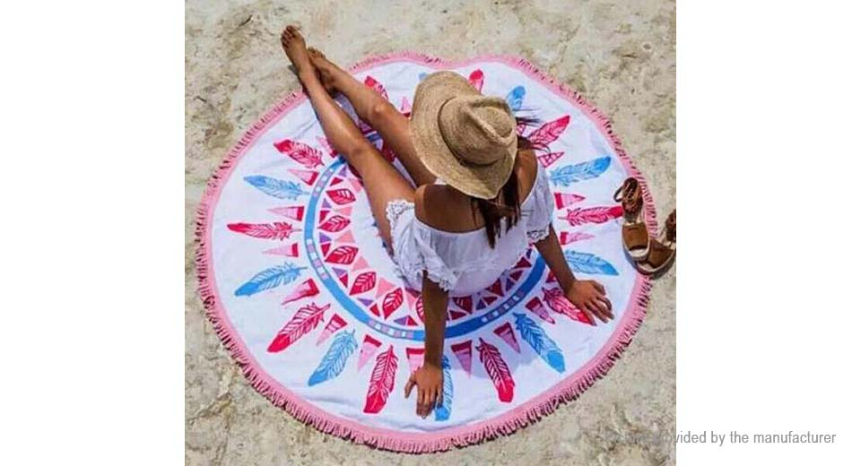 Round Beach Towel Yoga Mat Tippet Polyester Tablecloth Home Textile 5510404