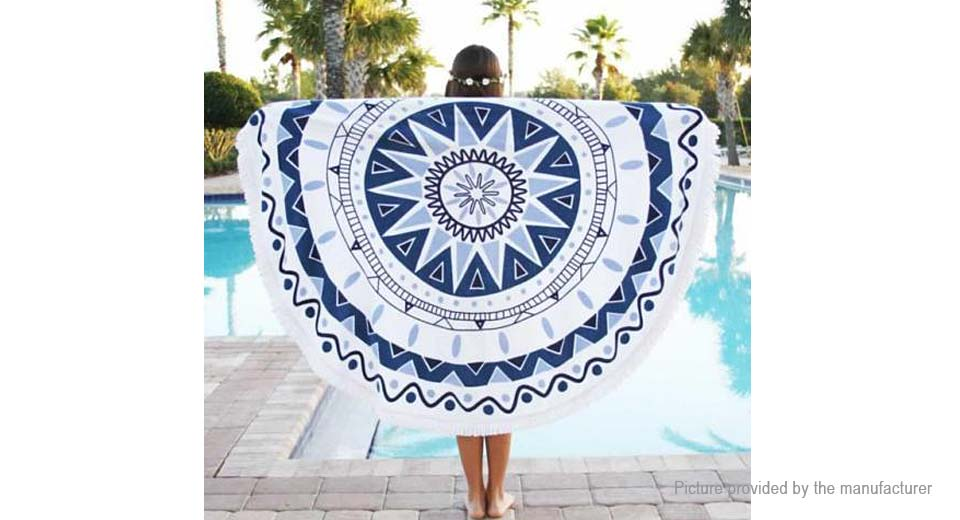 Round Beach Towel Yoga Mat Tippet Polyester Tablecloth Home Textile 5510405