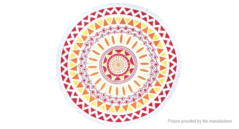 Round Beach Towel Yoga Mat Tippet Polyester Tablecloth Home Textile 5510406