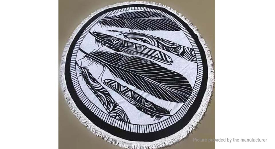 Round Beach Towel Yoga Mat Tippet Polyester Tablecloth Home Textile 5510407