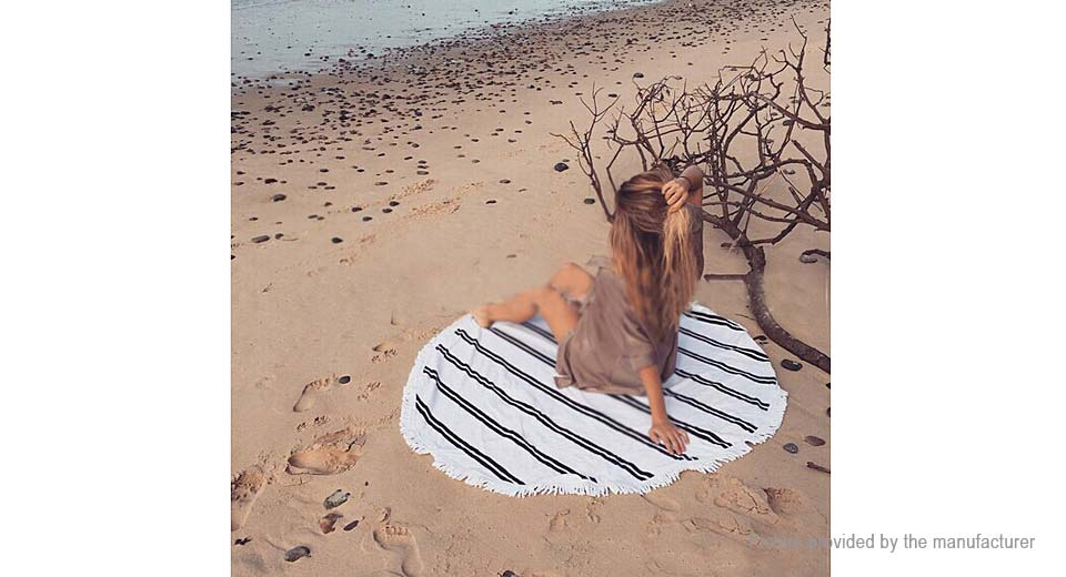 Round Beach Towel Yoga Mat Tippet Polyester Tablecloth Home Textile 5510411