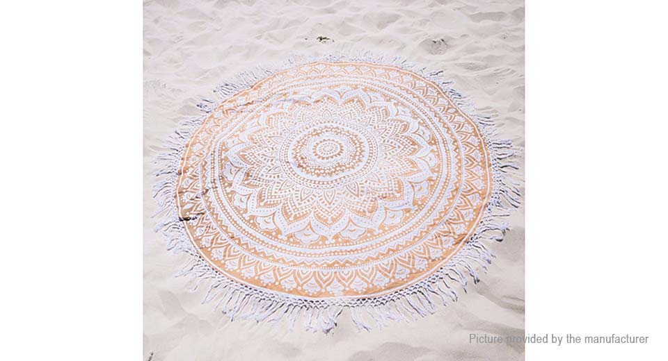 Round Beach Towel Yoga Mat Tippet Polyester Tablecloth Home Textile 5510413