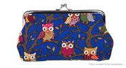 Owl Pattern Women's Canvas Coin Purse