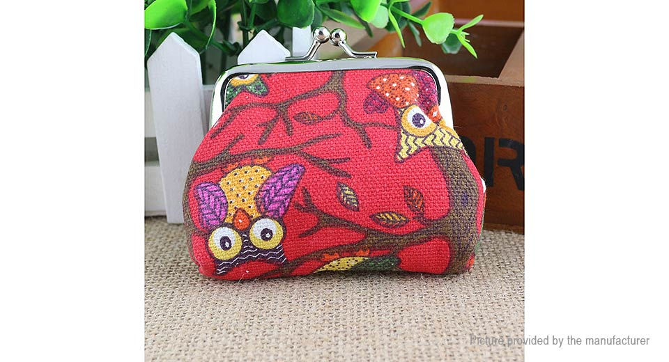 Product Image: cute-owl-pattern-canvas-coin-purse