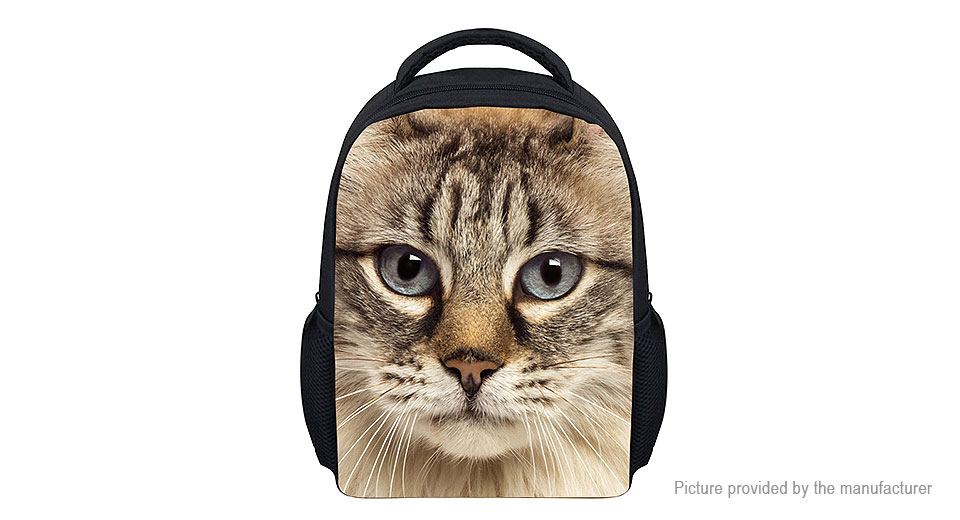 Product Image: for-u-designs-3d-cat-print-kids-school-backpack