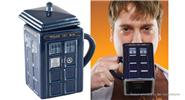Square Police Box Tardis Design Porcelain Mug (350ml)