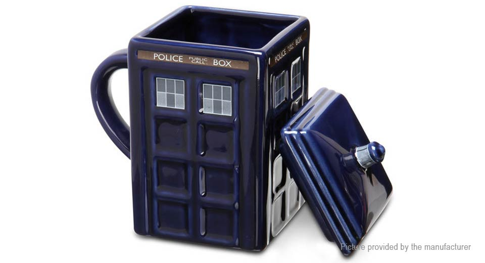 Product Image: square-police-box-tardis-design-porcelain-mug