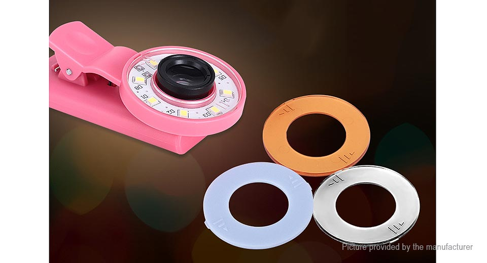 Portable Clip-on LED Selfie Ring Light