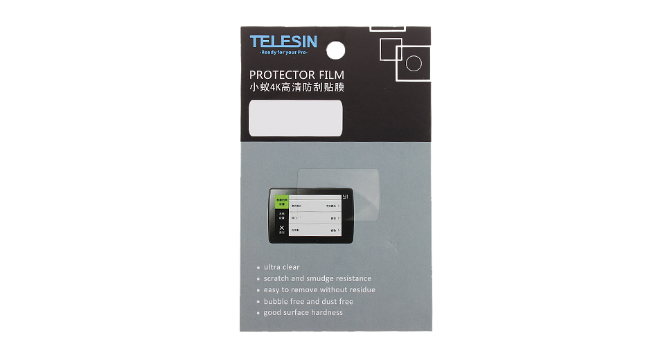 Product Image: telesin-screen-protector-film-for-xiaomi-yi-4k