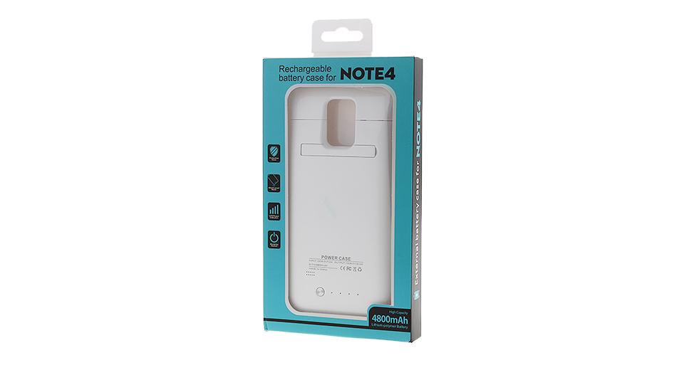 External Battery Case for Samsung Galaxy Note 4 (4800mAh)