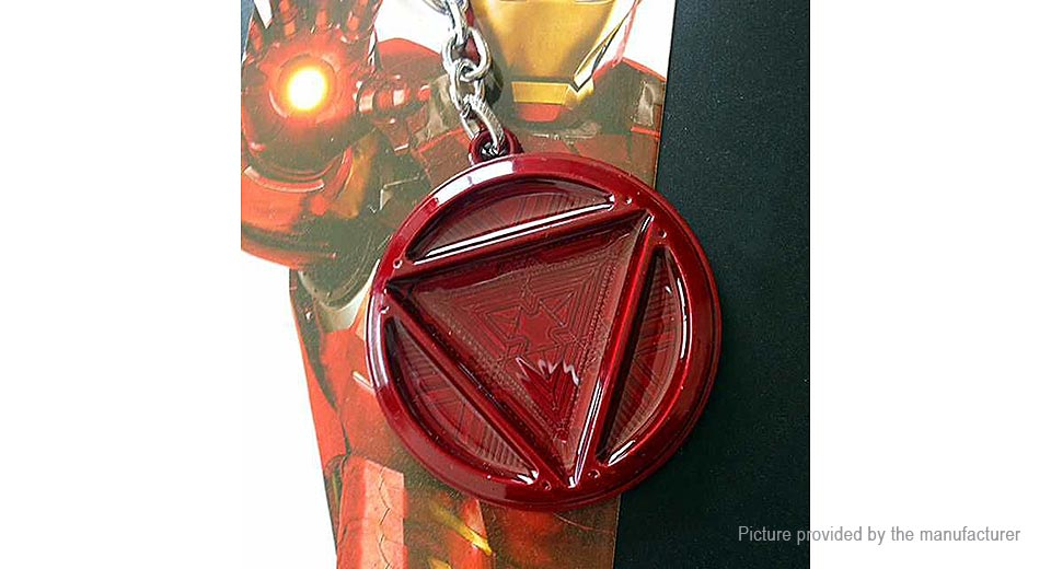 259 marvel the avengers iron man chest logo key chain at