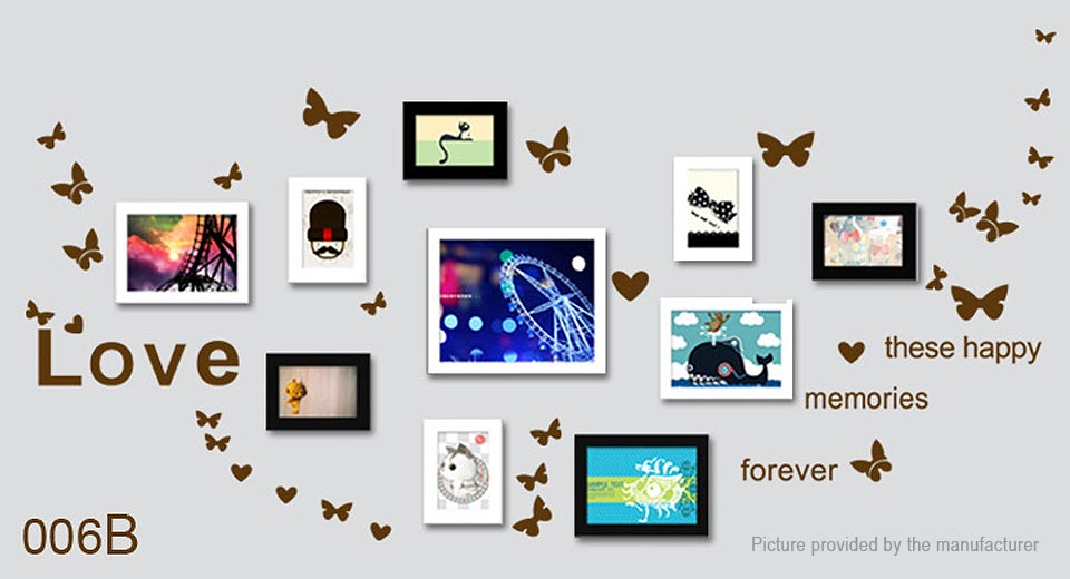 Love These Happy Memories Forever Removable Wall Sticker Home Decor