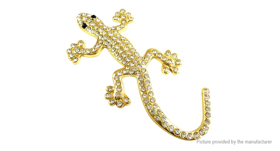Metal Rhinestone Lizard Styled Auto Car Emblem Decal Sticker