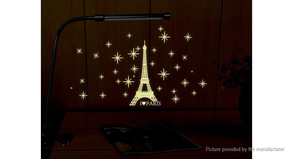 Luminous Eiffel Tower Styled Removable Wall Sticker Home Decor