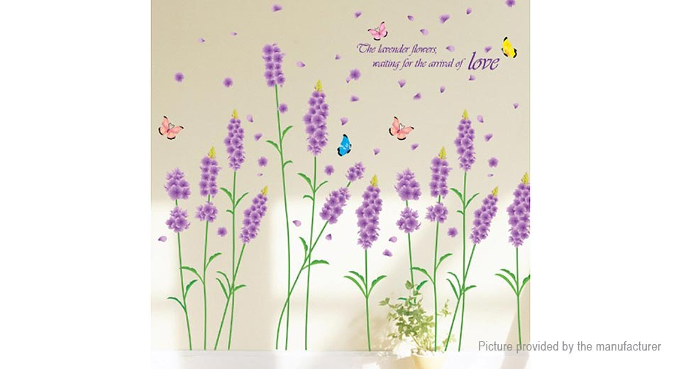 Lavender Styled Removable Wall Sticker Home Decor