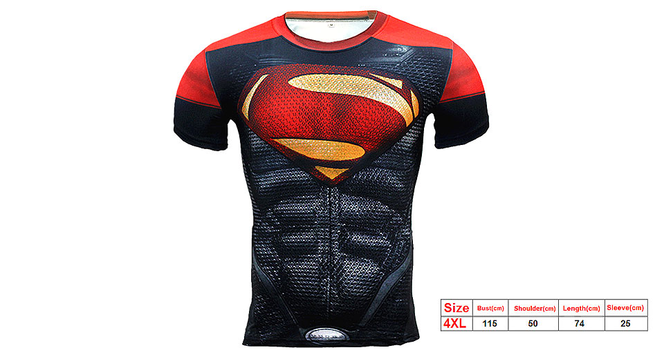8a933009f96 ... Short Sleeve T-shirt (Size 4XL). Product Image  3d-superman-print-men-s- sports-quick
