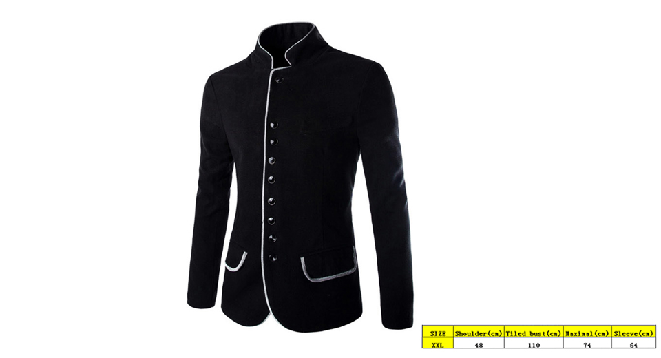Product Image: men-s-button-down-stand-up-collar-slim-fit-suit