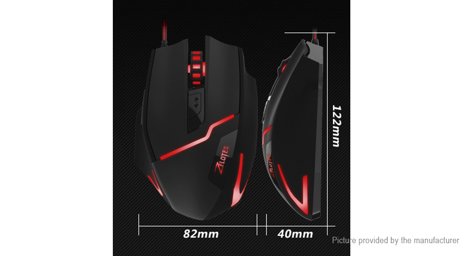 b0c4cbed3f6 $11.77 ZELOTES T-10 USB Wired Optical Gaming Mouse - authentic / 600 ...